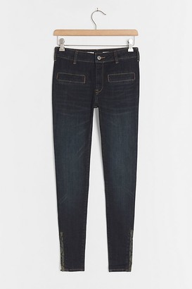Pilcro And The Letterpress Pilcro High-Rise Ankle-Zip Skinny Jeans