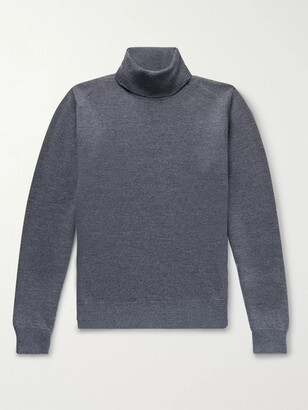 Saman Amel Melange Merino Wool Rollneck Sweater
