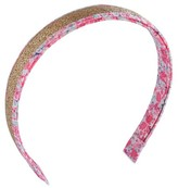 Circo Toddler Girls' Glitter Floral Print Headband Gold