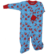 New Jammies Blue & Red Sail Away Organic Footie - Infant