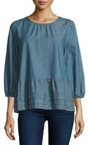 The Great The Damsel 3/4-Sleeve Top, Twilight Wash