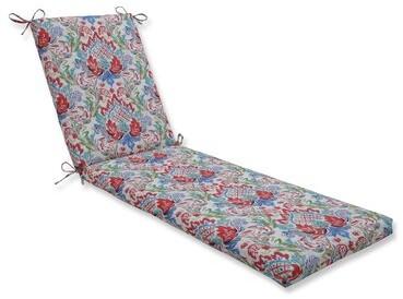 Charlton Home Crichton Indoor Outdoor Chaise Lounge Cushion Fabric Indigo Shopstyle