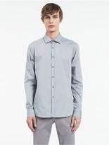 Calvin Klein Platinum Flecked Cotton Shirt