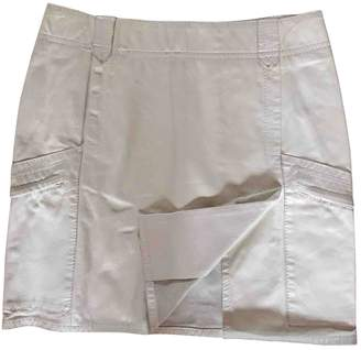 CNC Costume National White Leather Skirt for Women