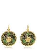 Versace Resin & Gold Plated Brass Earrings