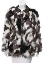 Moschino Fox Fur Leather Coat