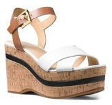 MICHAEL Michael Kors Chandler Leather-Blend Wedge Sandals