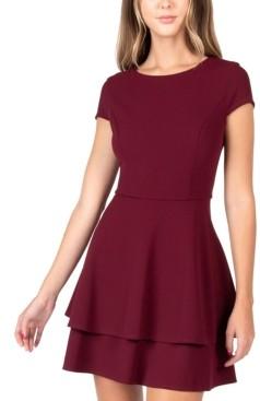 B. Darlin Juniors' Back-Tie A-Line Dress