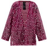 Ashish Rajasthan Mirror-applique Slit-side Dress - Womens - Pink