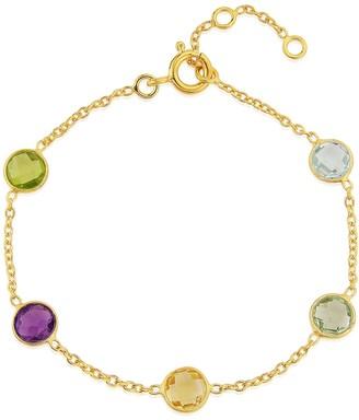 Chennai Multi Gemstone & Gold Vermeil Bracelet