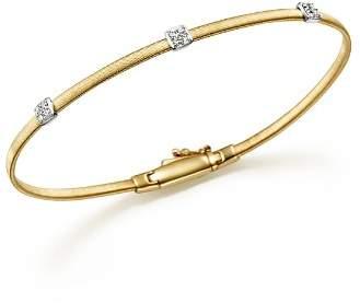 Marco Bicego Masai 18K Yellow Gold Small Three Station Diamond Bracelet