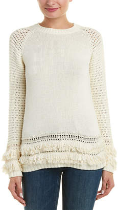 Chaser Fringe Pullover Sweater Tunic