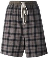 Rick Owens checked shorts