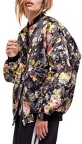 Free People Women's Floral Jacquard Bomber Jacket