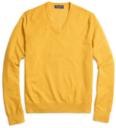 Brooks Brothers Saxxon Wool V-Neck Sweater