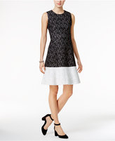 Tommy Hilfiger Colorblocked Lace Fit & Flare Dress