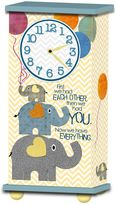 "Imagine Design ""First We Had Each Other..."" Treasured Times Clock in Blue"