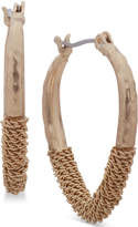lonna & lilly Gold-Tone Chain-Wrapped Hoop Earrings