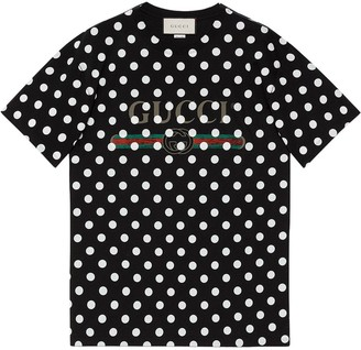 Gucci logo polka dot-print T-shirt
