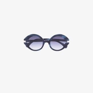 KALEOS Blue Moran round sunglasses