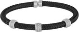 Carina 1/4 CT TW Diamond Two-Tone Sterling Silver Italian Mesh Bangle Bracelet