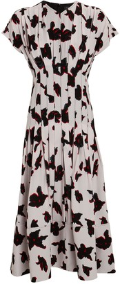 Proenza Schouler Floral Georgette Midi Dress
