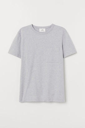 H&M T-shirt with Chest Pocket - Gray