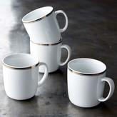 Williams-Sonoma Open Kitchen Bistro Mugs, Set of 4, Gold