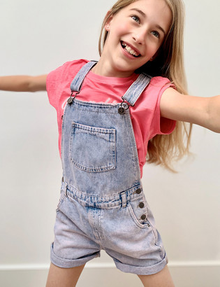 Marks and Spencer Pink Tie Dye Denim Dungarees (6-16 Yrs)