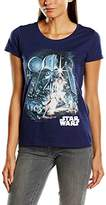 Star Wars Women's Montage Retro Short Sleeve T-Shirt