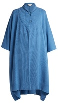 Stella McCartney Asymmetric hem cashmere and wool-blend poncho