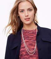 LOFT Layered Pearlized Necklace Set