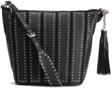 MICHAEL Michael Kors Women's Brooklyn Eyelet Hobo Bag Black