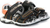 Roberto Cavalli touch strap sandals - kids - Leather/Pig Leather/rubber - 21