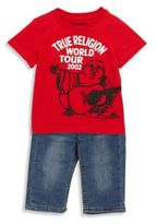 True Religion Baby's Cotton Tee & Denim Pants Set