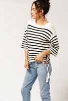 Azalea Stripe Tie Detail Sweater