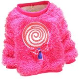 JELEUON Little Girls Baby Furry Cute Bear Comfortable Soft Thick Wool Sweater L