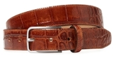 Peter Werth Embossed Croc Feather Edge Belt