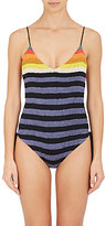 Mara Hoffman Women's Rainbow Stripe Lace-Up One-Piece Swimsuit