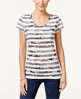 Style&Co. Style & Co. Bandana-Print T-Shirt, Only at Macy's