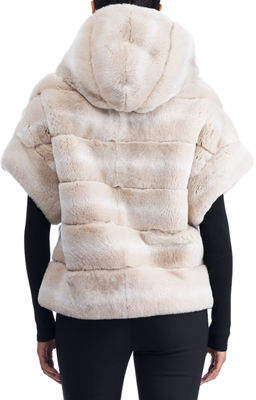 Gorski Hooded Fur Vest