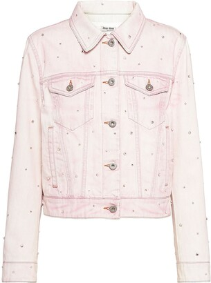 Miu Miu Bleached Denim Jacket