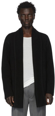 The Elder Statesman Black Cashmere Italy Smoking Cardigan