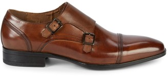 Kenneth Cole New York Double Monk-Strap Leather Cap Toe Oxfords