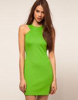 High Neck Neon Scuba Dress