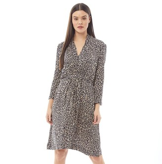 French Connection Womens Belted Dress Sabbia Multi