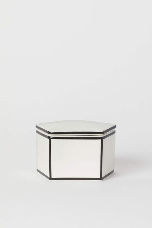 H&M Porcelain Pot with Lid