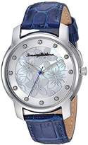 Tommy Bahama Women's Quartz Stainless Steel and Leather Casual Watch, Color:Blue (Model: TB00027-04)