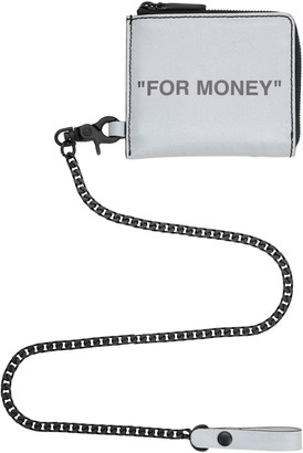 """Off-White Off White REFLECTIVE """"FOR MONEY"""" CHAIN WALLET"""