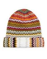 Missoni Zigzag Wool-Blend Beanie Hat